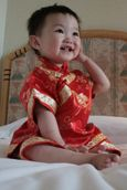 Our Newest Granddaughter Kaitelin in her Chinese Dress