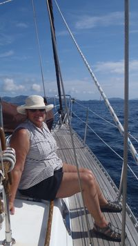 Vicki on board Jubilee