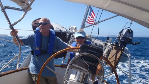 Ted & Jane Enjoying the Sail