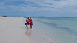 Walking an Anegada Beach - 1