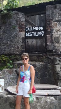 Linda at Callwood Rum Distillary