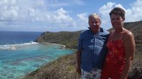 2013 Stan and Linda at Norman Island Ridge
