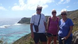 Bruce, Susan and Judy on Norman Island Hike