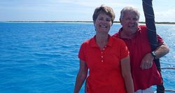 Stan & Linda at West Plana Cay - 2 - short
