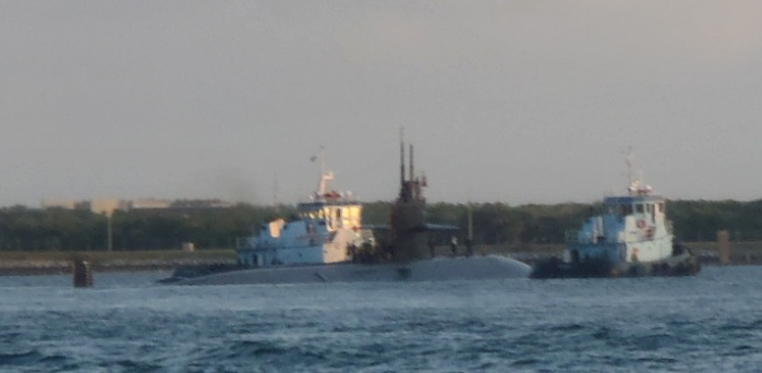 Sub Entering Port Canaveral