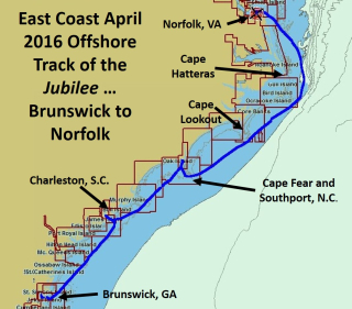 Annotated April 2016 Offshore Track Brunswick to Norfolk