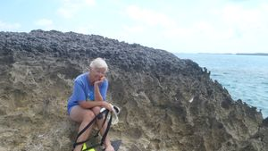 Judy on Limestone Point at Cambridge Conch Cut