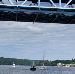 Under the Houghton-Hancock Lift Bridge - crop
