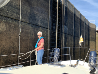 Tending Lines in the Sault Locks