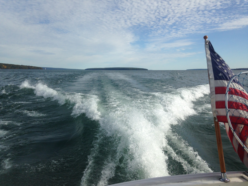 Legacy Underway at about 12.5 knots